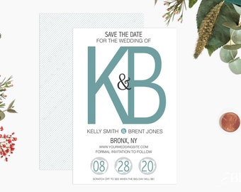Custom Scratch off Save The Date Cards