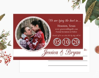 Custom Scratch off Save The Date Postcards