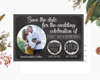 Custom Scratch off Postcard Style Save The Dates