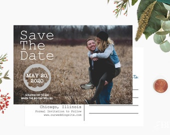Custom Scratch off Save The Date Cards Postcard