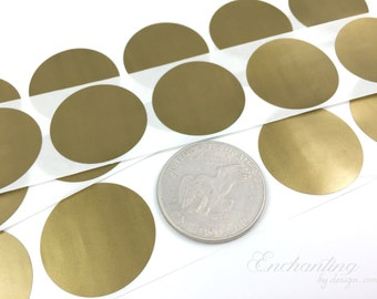 Gold 1.50 inch Round scratch off stickers