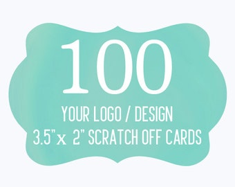 100 Custom Scratch Off Cards Your Logo or Design