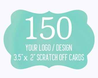 150 Custom Scratch Off Cards Your Logo or Design