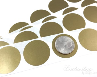 Gold 1.25 inch Round scratch off stickers