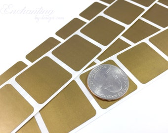 Gold 1 inch square scratch off stickers
