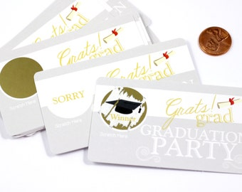 Gratz Grad Scratch off Game Cards - Graduation Party Game - Party Favors - 10 Cards