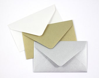 10 Metallic Mini Envelopes Perfect For Scratch Off Cards