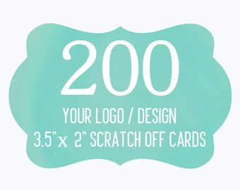 200 Custom Scratch Off Cards Your Logo or Design