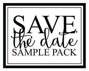 Save The Date Sample Pack - Scratch Off Save The Date Cards - Custom Save The Date