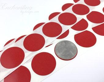 Red 1 inch Round scratch off stickers