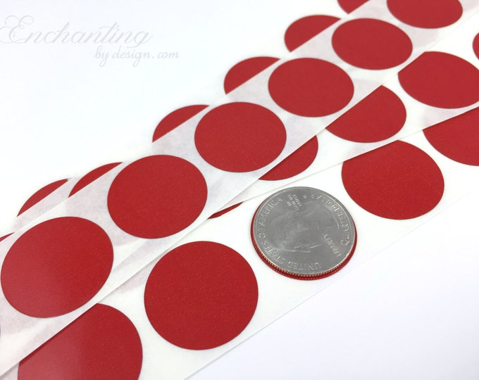 Red 1 inch Round scratch off stickers
