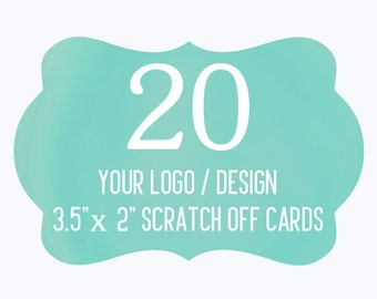 20 Custom Scratch Off Cards Your Logo or Design