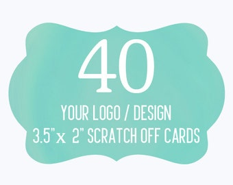 40 Custom Scratch Off Cards Your Logo or Design