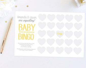 Digital File Baby Shower Bingo Cards