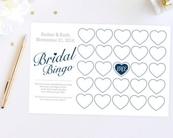 Digital File Bridal Shower Game Bingo Cards
