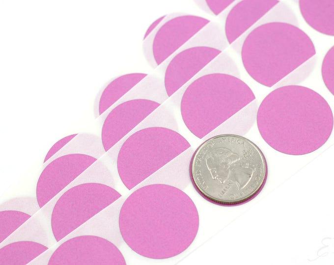 Light Pink 1 inch Round scratch off stickers