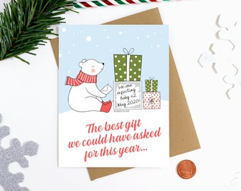Holiday Pregnancy Announcement Scratch Off Card - We Are Expecting Card - Christmas Scratch Off Card