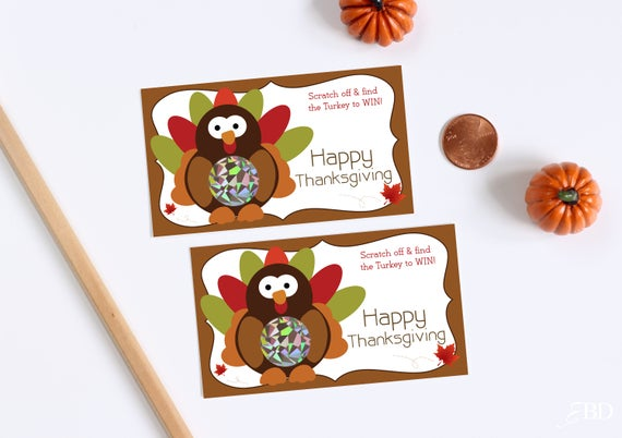 Thanksgiving Scratch Off Cards