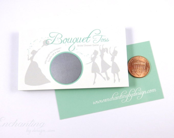 Mint Green Bridal Shower Scratch Off Cards - Bridal Shower Game - Bachelorette Party Game
