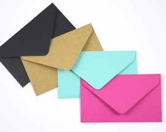 10 Matte Mini Envelopes Perfect For Scratch Off Cards