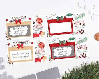 Secret Santa Scratch off Card - Secret Santa Gift Exchange - Holiday Party