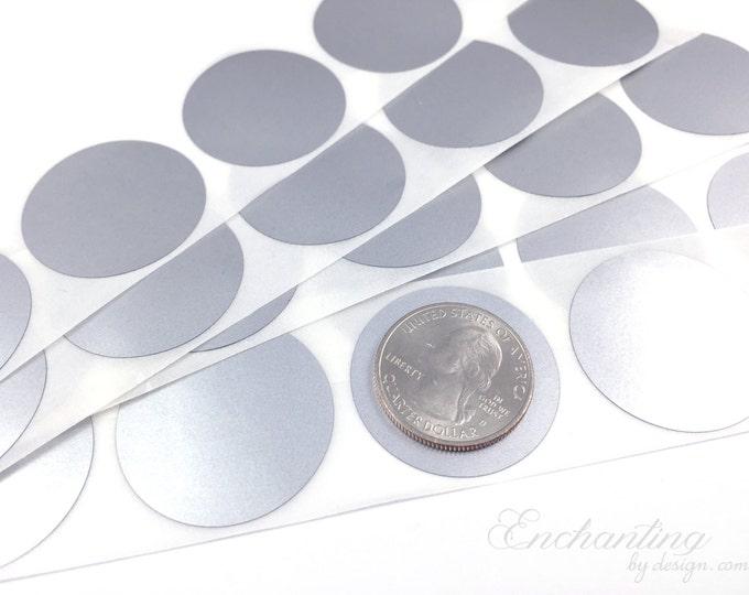 Silver 1.25 inch Round scratch off stickers