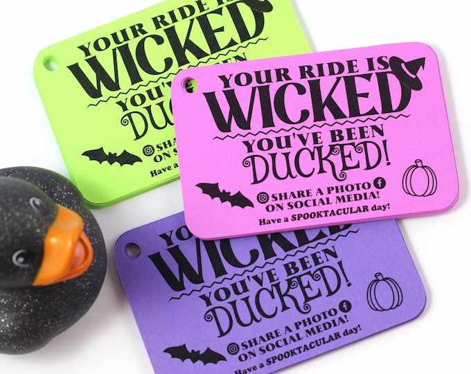 You've been ducked - duck tags - ducking tags - tags for ducking