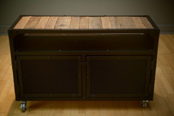 Credenza Industrial Fai Da Te : Cabinet sideboard stand tv credenza industrial etsy