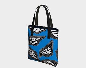Leaves (Blue) Brights Urban Tote Bag