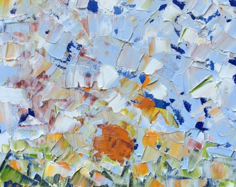 Riser#6 - Original Oil Painting, Landscape Painting, Abstract Landscape