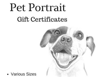 Pet Portrait Gift Certificates