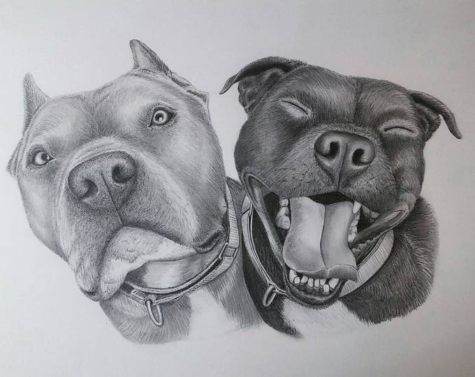Featured listing image: Deposit for Dog Pencil Portraits ~ Gift Cards Available ~ All Sizes ~ Hand-Drawn with Framing Options