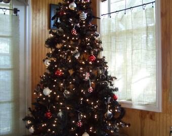 black christmas tree skirt - Black Christmas Tree Skirt
