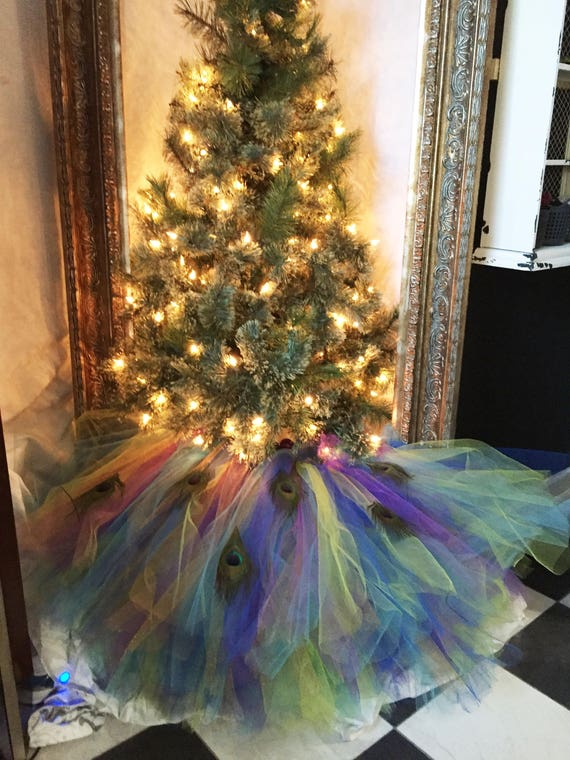 image 0 - Peacock Themed Christmas Tree