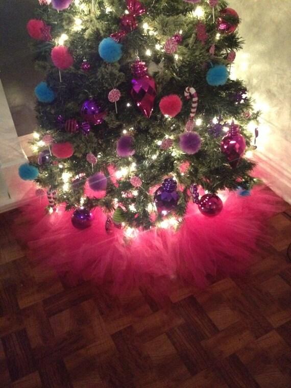 Pink Christmas Lights.Hot Pink Christmas Tree Skirt
