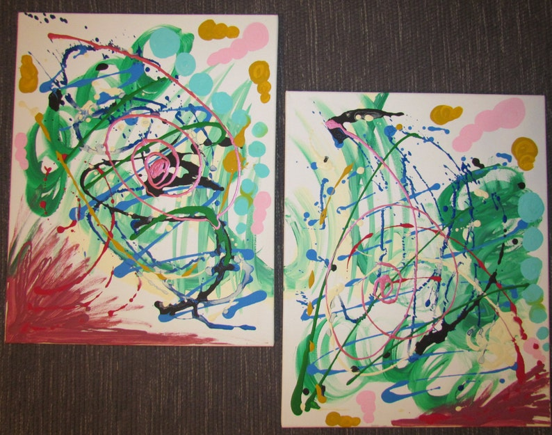 2 Piece Original Painting. image 0