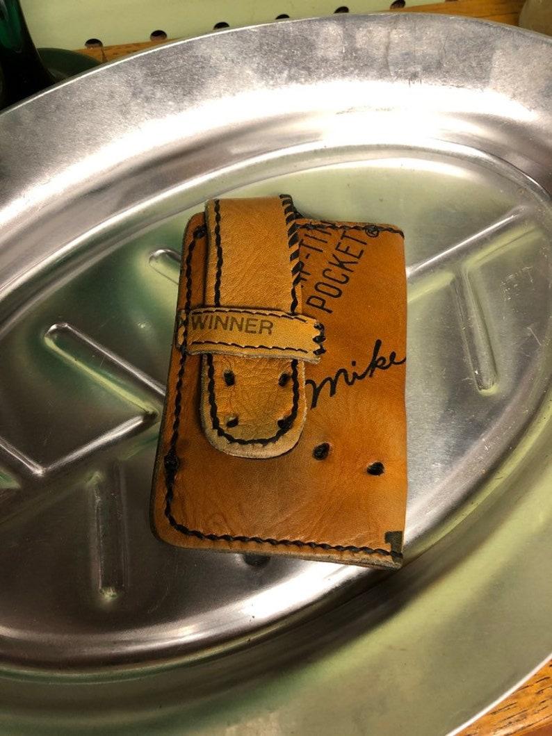Handmade stiched baseball glove wallet image 0