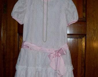 Girls' Clothing (newborn-5t) Baby & Toddler Clothing Vintage Jolene White Dressy Dress 4t A Great Variety Of Goods