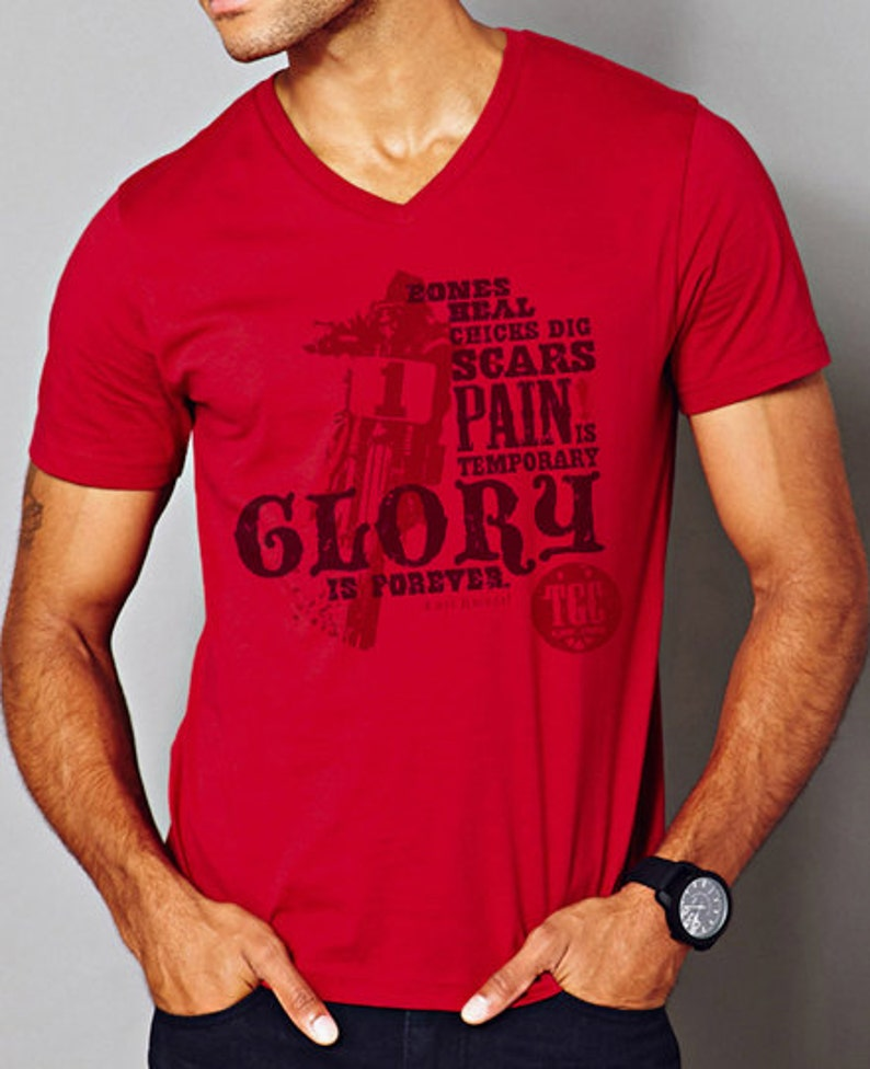 Glory Is Forever  Men's Short Sleeve Vintage Soft Tee image 0