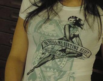 Be Still My Beating Heart - Women's Short Sleeve Crew Neck TShirt