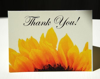 Sunflower thank you card / Thank you card / Sunflower card