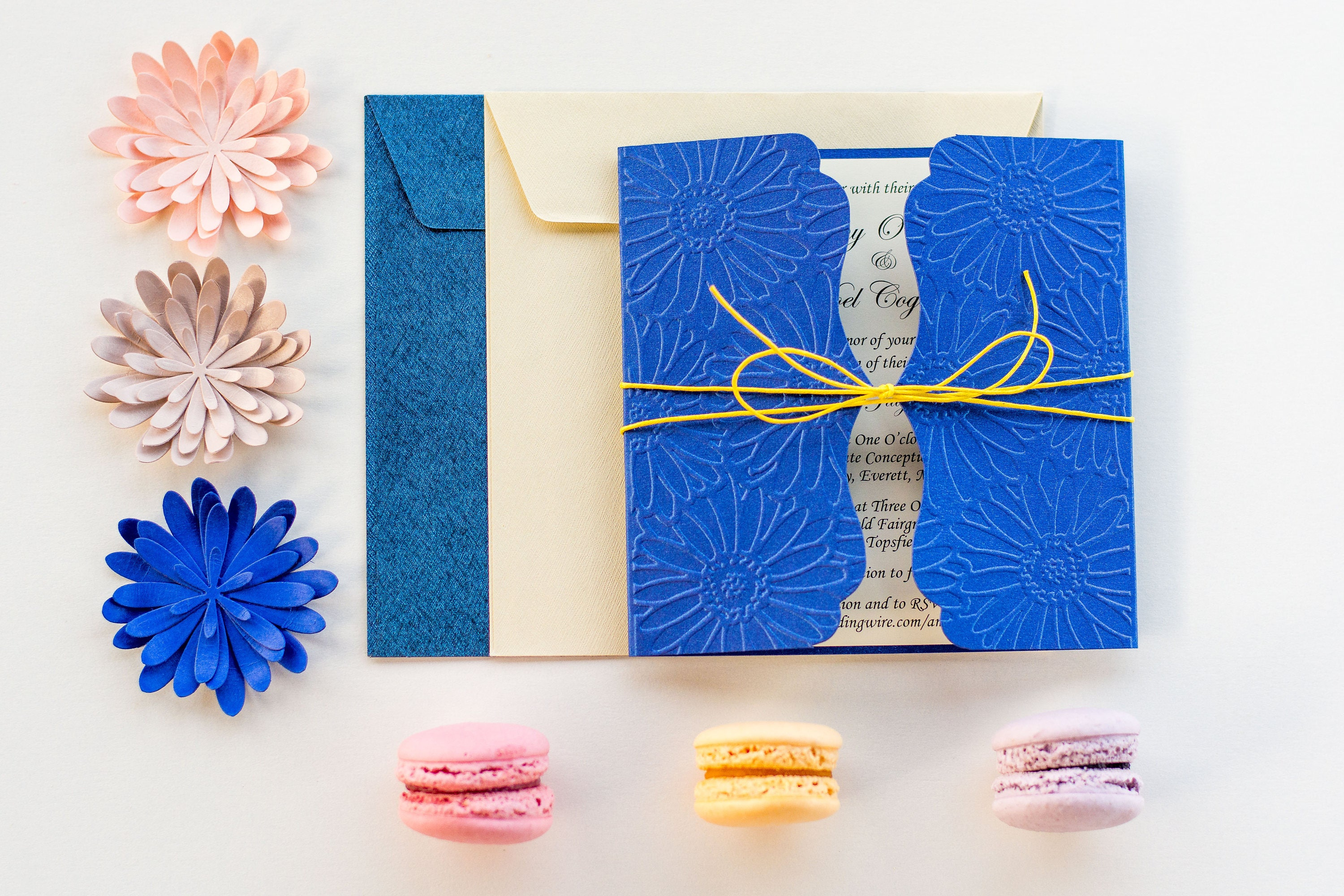 Blue And Yellow Wedding Invitations: Cobalt And Yellow Wedding Invitation Blue And Yellow