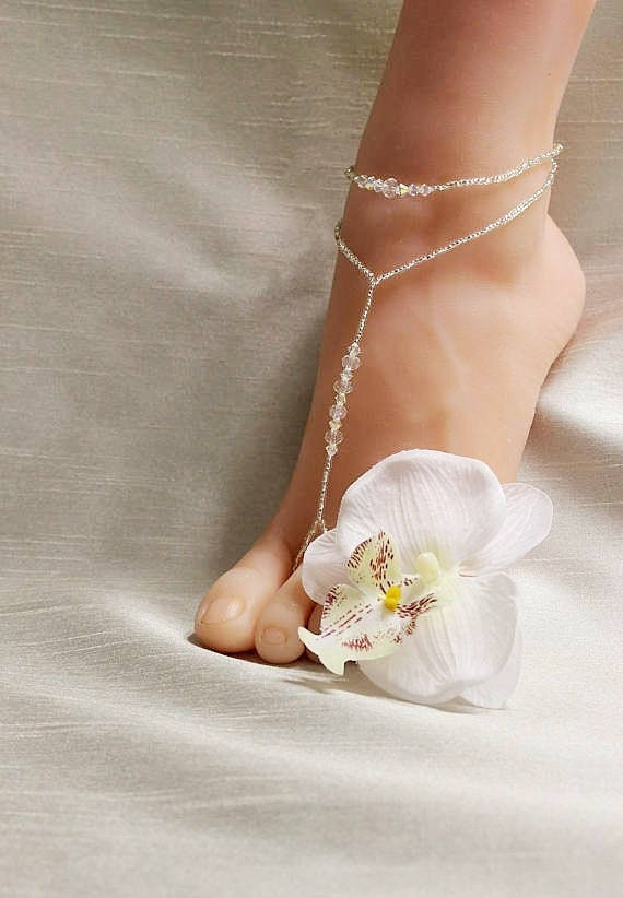 Beach Jewelry Shoes Wedding Foot Bridal Barefoot Sandals Footless Ov0mNny8wP