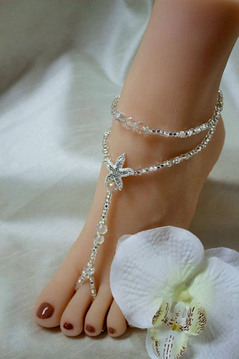 7409c460405af1 Barefoot Sandals Foot Jewelry Beach Wedding Barefoot Sandals