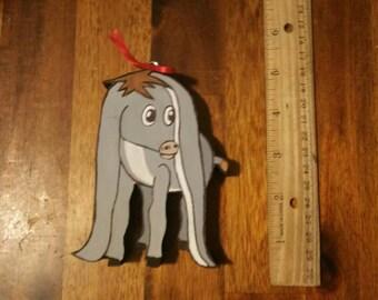 Nestor the long eared Christmas donkey ornament