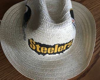d62c5448b9c24 Pittsburgh Steelers Straw Hat