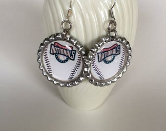 Washington Nationals Earrings, Washington Nationals Baseball Earrings, Nationals Clip On Earrings, Nationals Jewelry, Nationals Accessories