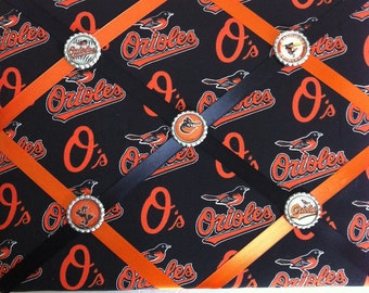 Baltimore Orioles French Memory Board, Baltimore Orioles Fabric Board, French Memory Board, Orioles Ribbon Board, Graduation Gift, Orioles