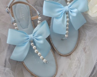Light blue sandals   Etsy