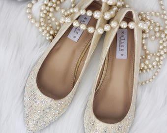 Flat wedding shoes  caf1d6c34